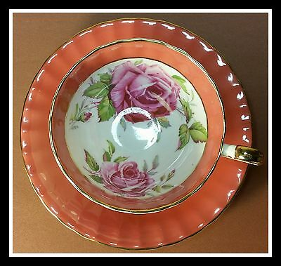 STUNNING AYNSLEY PINK CABBAGE ROSE Cup & Saucer