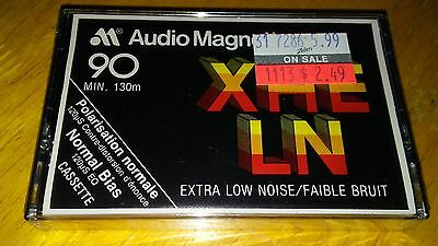 Audio Magnetics Xhe-Ln 90 Min Cassette Tape Brand New Sealed As Pictured