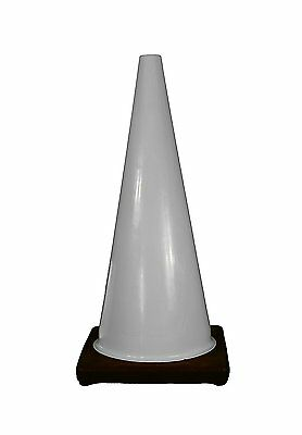 "Cortina Safety Products 03-500-66 PVC Traffic Cone, 28"", White"