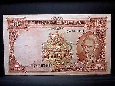 1940-1955 New Zealand 10 Shillings ✪ Vf Very Fine ✪ P-158A L@@k Now ◢Trusted◣