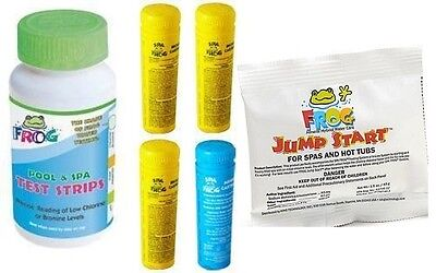 Spa Frog Kit 4 pack 3 Bromine 1 Mineral Test Strips Jump Start PRIORITY MAIL
