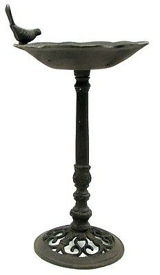 Cast Iron Tall Birdbath or Birdfeeder