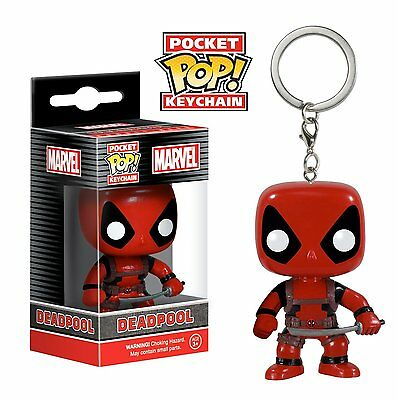 Funko Pocket Pop Keychain Marvel Deadpool Vinyl Action Figure Toy