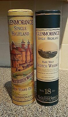 2 x Glenmorangie Scotch Whisky Tins Bottle Holder Containers Collectables