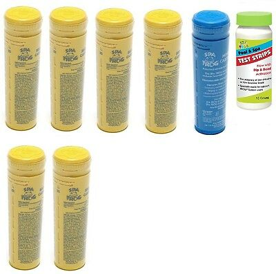 Spa Frog Kit 7 pack 6 Bromine & 1 Mineral w/Test Strips PRIORITY MAIL