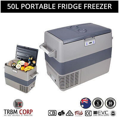 50L Portable Freezer Fridge Ice Box Cooler Camping Caravan Home 12V 24V 240V