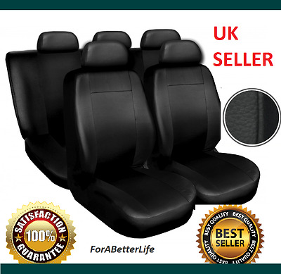 Universal Black Leather Luxury Seat Covers, Especially Made For Your Car!!!!