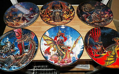 Set of 12 Franklin Mint Dragon Plates / fine bone china