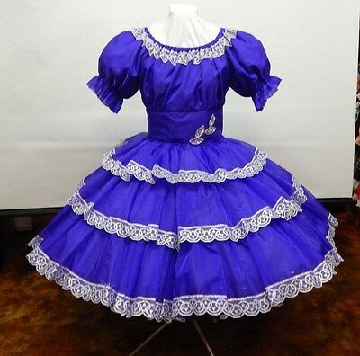 Purple Crystal Organza Square Dance Party Dress