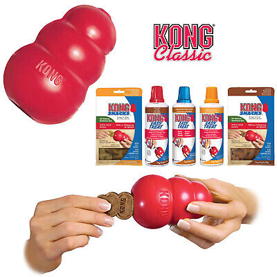 Kong Classic Red Dog Toy Chew Treat Dispenser Small Medium Large XL XXL