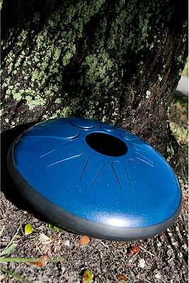 Idiopan Dominus 14-Inch Tunable Steel Tongue Drum - Oceanic Blue