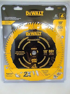 DeWalt Ultra Fine Finish 10in. 80 Teeth Precision Trim Saw Blade DW3218PT NEW!!