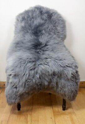 XL Large White/Ivory & Cold Brown Tip Genuine Icelandic Sheepskin Real Fur Rug