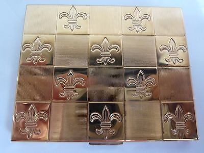 Vintage American Beauty Compact Art Deco Fleur de Lis New in Pouch with Puff