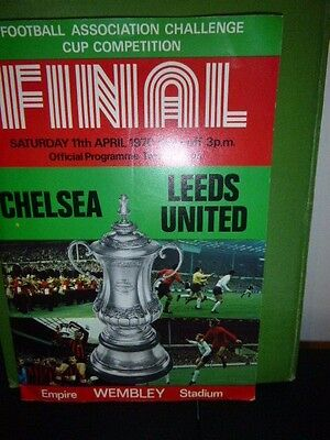 Fa Cup Final & Replay Programmes 1970  Chelsea V Leeds United