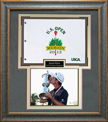 2013 US Open Champion Justin Rose Framed Photo