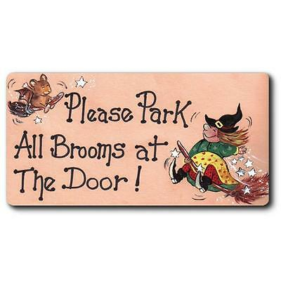 Witch Fridge Magnets Magnet Please Park All Brooms At The Door Wicca Pagan New
