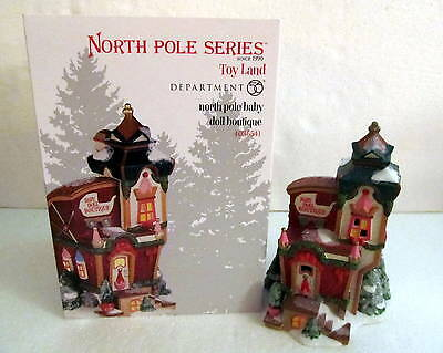 Department 56 4036541 North Pole Baby Doll Boutique NIB RETIRED!