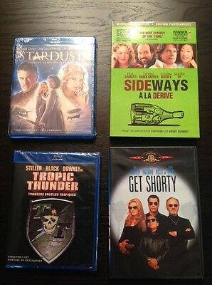 Tropic Thunder, Stardust, Get Shorty and Sideways DVD lot (4 movies)