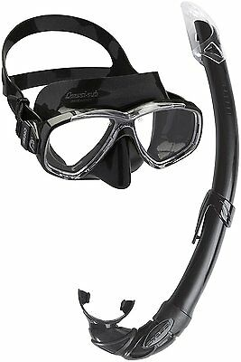 Cressi Men's Combo Perla Mare Scuba Diving and Snorkeling Mask, Black, One Size
