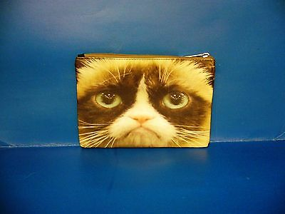 Cat Kitten Pet Grumpy Cat Cosmetic Bag Purse BAG328 NEW