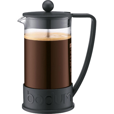 Bodum Brazil French Press 1-Liter 8-Cup Coffee Maker, 34-Ounce, Black