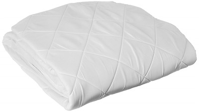 WellRest Spa Therapy Diamond Quilted Memory Foam Mattress Pad, Queen, White
