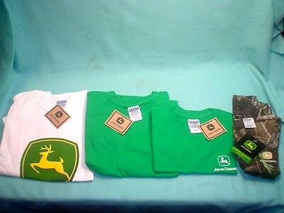 4 John Deere T-Shirts Two Adults And Two Kids