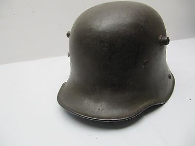 Rare Wwi German Army Named Combat Helmet + Liner Named M Fichein?
