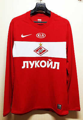 Spartak Moscow 2009-10 Home L/S Player Issue Shirt
