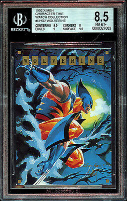 1993 X-Men Marvel Character Watch Promo Wolverine Card Ap 150 Produced Bgs 8.5