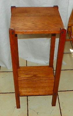 Solid Oak Mission Plant Stand  (PS196)
