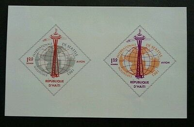 Haiti Observation Tower And World Map 1962 Seattle Expo (ms) MNH *imperf