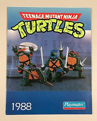 1988 Playmates TMNT Teenage Mutant Ninja Turtles Dealer Toy Catalog RARE!