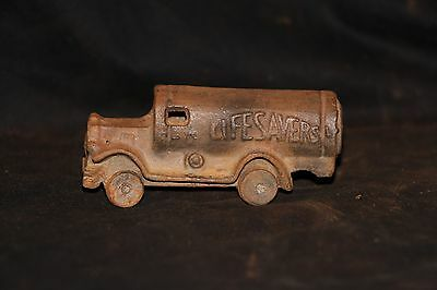 Vintage Cast Iron LifeSavers Truck Toy Early Reproduction