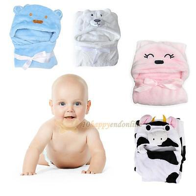 Cute Animal Cartoon Baby Kid's Soft Hooded Bathrobe Toddler Bath Towel Bathrobe