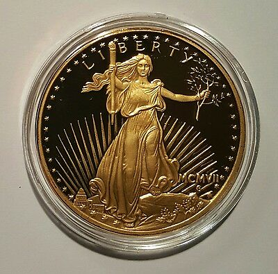 1933 United States Treasury LIBERTY $20 Dollar 24 kt. Gold Plated Coin COPY 2003