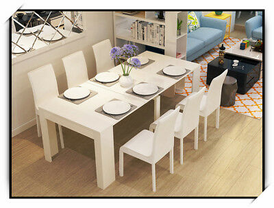 New High Gloss White Extendable  41 to 185cm Dinning Table