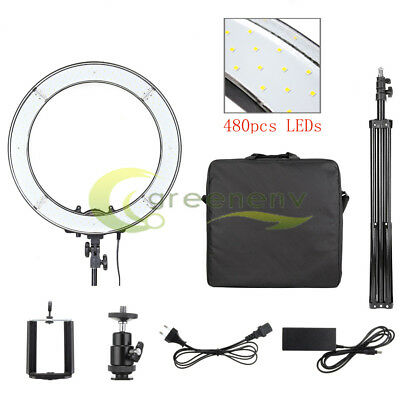 "Camera Photo/Video 18"" 480PCS 5500K Dimmable LED Stepless Adjustable Ring Light"