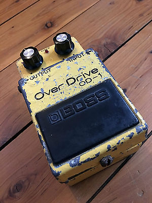 Boss OD-1  Silver Screw Made in Japan Overdrive effect pedal