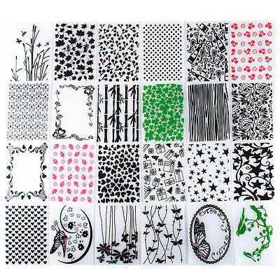 Plastic Embossing Folder Template DIY Gift Card Scrapbook Papercraft Decoration