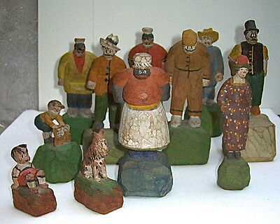 1930'S FRANK KING'S GASOLINE ALLEY COMIC STRIP WOOD CHARACTERS with BLACK MAMMY