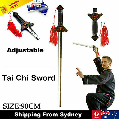 1x Adjustable Chinese Kung Fu Arts Tai Chi Retractable Magic Performance Sword