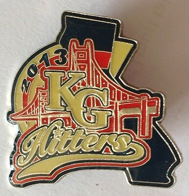 KG Hitters 2013 Girls Softball Pin Badge Large Authentic Rare (E2)