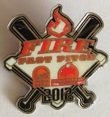 Fire Fastpitch 2012 Large Softball Pin Badge With Advertising Sport Rare (E2)