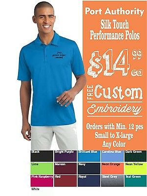 12 Port Authority Polos Printed or embroidered with your Company Logo @14.99 e.a
