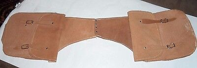 Natural Leather Western Trail Horse Saddle Bag Or Motorcycle Saddle Bags