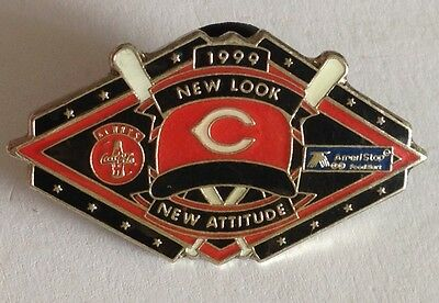 Cincinnati Reds New Look 1999 CocaCola Ansel Advertising Pin Rare Authentic (E2)