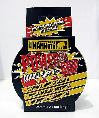 EverBuild Mammoth Tape 25mm x 2.5m Powerful Double Sided Strong Tape
