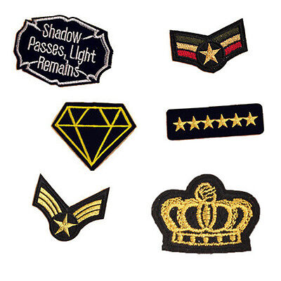 10PCS Embroidered Slogan Patches Appliques Iron / Sew On Patch for Clothing
